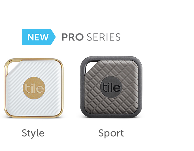 Tile Pro Series, Tile Style and Tile Sport