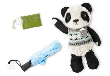Tile main on keychain, umbrella and Panda stuff toy