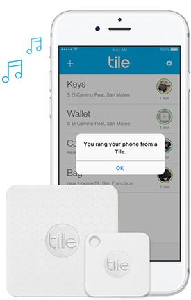 Find your phone screen shot from the tile app, Tile Mate and Tile Slim