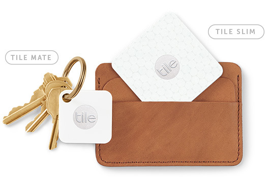 Tile Mate on keys and Tile Slim in wallet